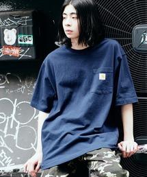 Carhartt(カーハート) ビッグシルエット ポケット半袖 ロゴ Tシャツ Workwear Pocket 1/2 Sleeve T-Shirts (BASQUE magenta)ネイビー