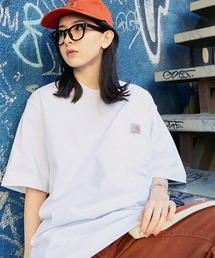 Carhartt(カーハート) ビッグシルエット ポケット半袖 ロゴ Tシャツ Workwear Pocket 1/2 Sleeve T-Shirts (BASQUE magenta)ホワイト