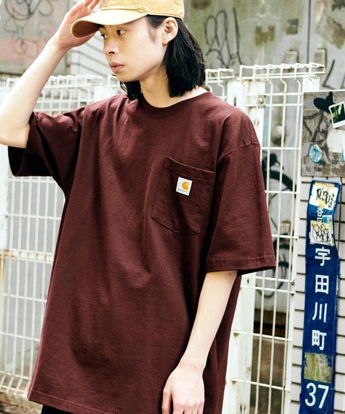 Carhartt(カーハート) ビッグシルエット ポケット半袖 ロゴ Tシャツ