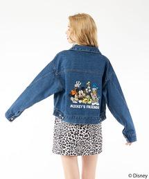 【Disney/ディズニー/ミッキーマウス】デニムブルゾンライトブルー