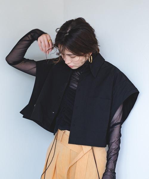 【chuclla】【2021/SS】Layered short shirt chw1550