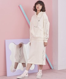 CONVERSE/コンバース サイドラインロゴデザインスカートオフホワイト