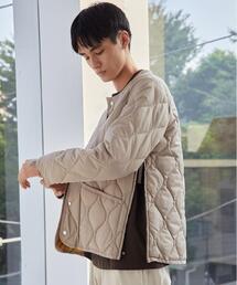 【WEB限定】<TAION(タイオン)>ミリタリー クルーネック ダウン ジャケット