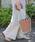 select MOCA(セレクトモカ)の「合皮立体バケツ×コットン巾着付きネット編みバック(かごバッグ)」 ブラウン