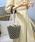 select MOCA(セレクトモカ)の「合皮立体バケツ×コットン巾着付きネット編みバック(かごバッグ)」 ブラック