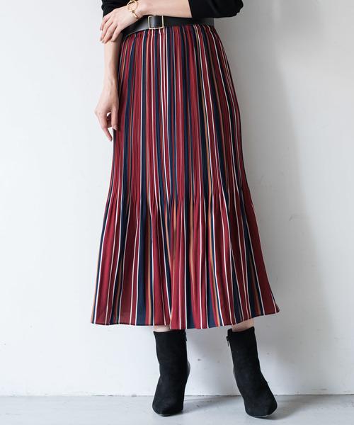 全品送料0円 マルチストライププリーツスカート(スカート)|Loungedress(ラウンジドレス)のファッション通販, エムアイシー21(mic21):9db7d36c --- hausundgartentipps.de