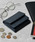 Add+(アッド)の「<Add+>本革 カーボンレザー コンパクトミニウォレット 三つ折りミニ財布(財布)」|ネイビー