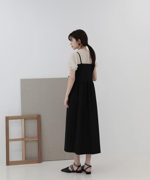 by muni:r(バイ ムニール)の「レースビスチェ ワンピース(ワンピース)」|詳細画像