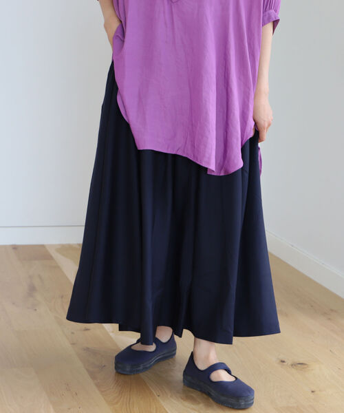 BEAMS BOY(ビームスボーイ)の「GRAMICCI × BEAMS BOY / 別注 ギャバ ロング スカート(スカート)」|ネイビー