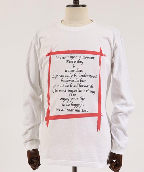 mlt2476-ロングスリーブプリントTシャツ -IJIN MEIGEN SHU-