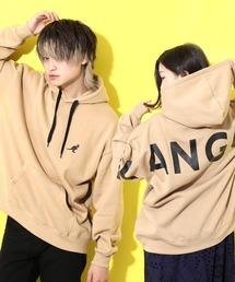 KANGOL(カンゴール)のKANGOL/カンゴール 別注 ロゴ刺繍 バックプリント TC裏起毛 リブ長袖 ビッグシルエット プルパーカー(パーカー)