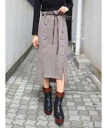 MURUA(ムルーア)のボタンスリットIラインスカート(スカート)