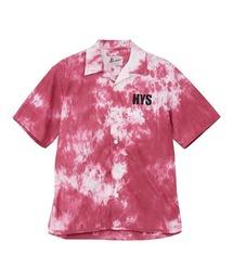 CIRCLE GIRL タイダイオープンカラーシャツピンク