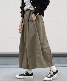 GRAMICCI/グラミチ シェルタックフレアパンツ SHELL TUCK FLARE PANTS(ウィメンズ)オリーブ