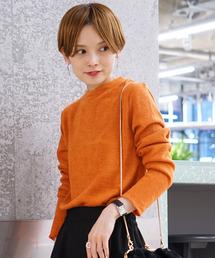koe(コエ)の起毛カットクルーネックプルオーバー(Tシャツ/カットソー)