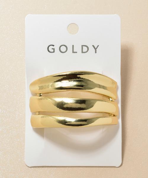 GOLDY(ゴールディ)の「メタル ケージ ヘアカフ(ヘアゴム)」 ゴールド