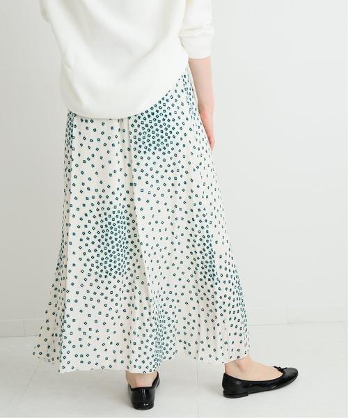 IENA(イエナ)の「RISA プリント スカート◆(スカート)」 グリーン
