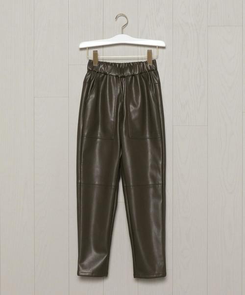 <PHEENY>FAKE LEATHER PANTS/パンツ.