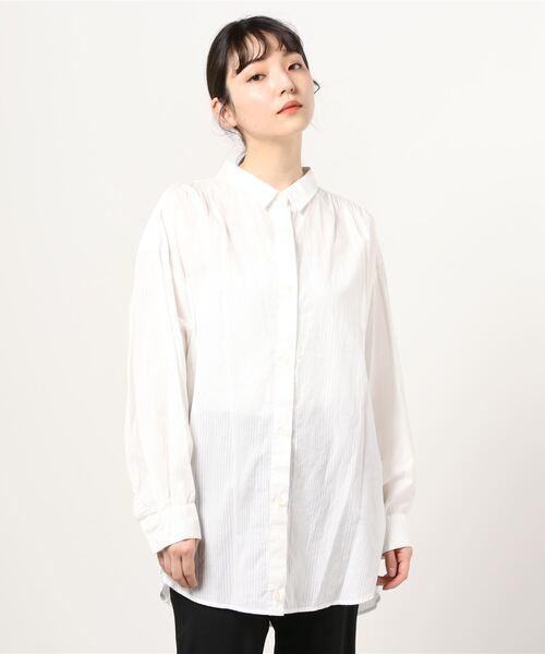 COMMUNITY MILL(コミュニティ ミル)の「R JIBILLIE 2Way Shirts Stripe(シャツ/ブラウス)」 オフホワイト