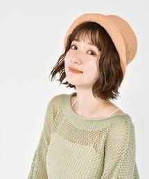 こま編みバケットハットベージュ