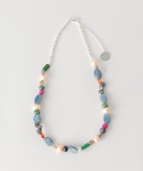 <JieDa> MIX STONE NECKLACE/ネックレス