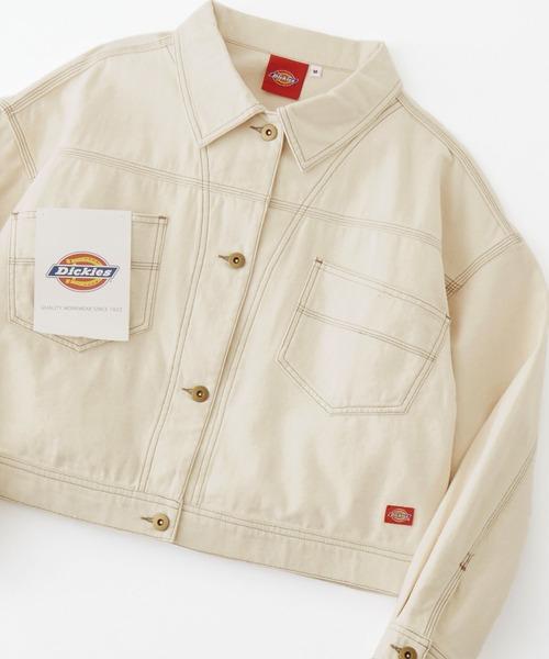 Dickies/ディッキーズ コットンツイル ドロスト バックボタンワークジャケット