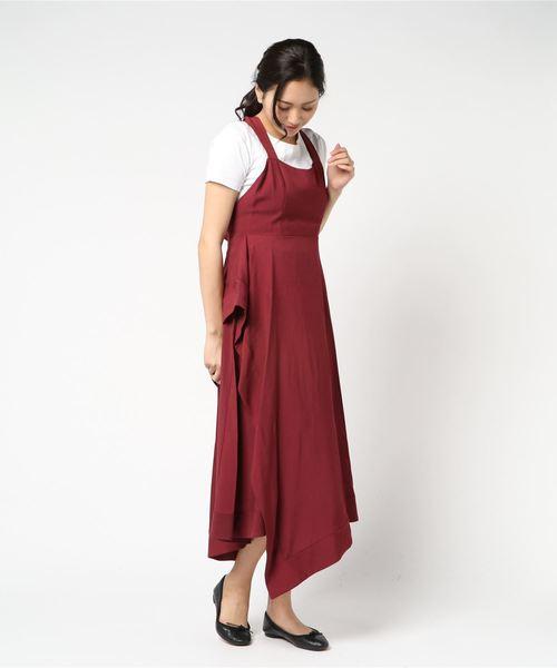 バッククロスアシメトリードレス