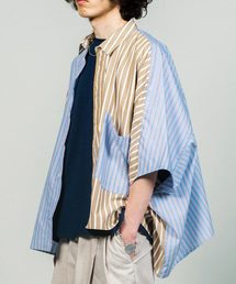 0ed59f21449 Jieda(ジエダ)の「JieDa ジエダ   STRIPE ASYMMETRY SHIRT   Jie-19HS