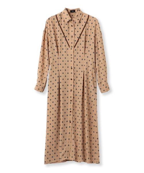 コモンプリントシャツドレス