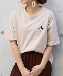 Disney(ディズニー)のDisney(ディズニー)ワンポイントミッキービッグTシャツ(Tシャツ/カットソー)