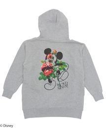 【Disney/ディズニー/ミッキーマウス】裏毛パーカーグレー
