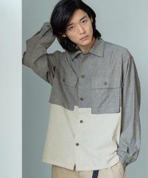 切替ミリタリーシャツ1
