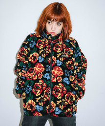 X-girl(エックスガール)のFLORAL STAND COLLAR BOA JACKET(ブルゾン)
