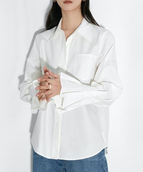 【chuclla】【2021/SS】Sleeve pleats shirt sb-5 chw1465