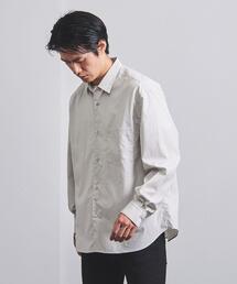 <UNITED ARROWS> ポプリン レギュラーカラー ワイドシャツ