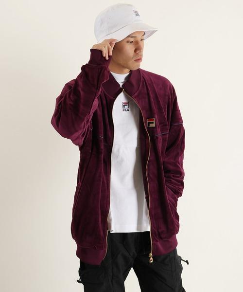 【FILA】ボックスロゴベロアトラックジャケット