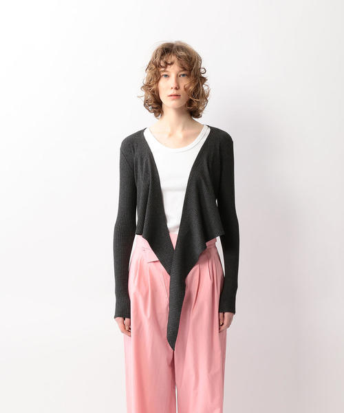 <ONLY HEARTS>LONG SLEEVE WRAP CARDIGAN/カーディガン