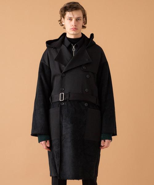 卸売 【LIBERUM】ムートンフーディトレンチコート(トレンチコート) liberum(リベルム)のファッション通販, グルメ本舗:66e0bf80 --- 5613dcaibao.eu.org