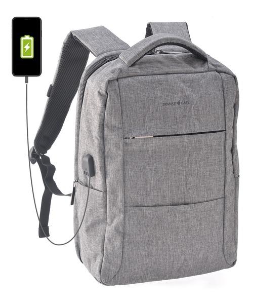 TransitGate G4 ナイロンビジネスバックパック (USBポート装備) リュックサック