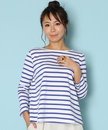 Le Minor(ルミノア)のルミノア Le Minor / ボーダープルオーバー EVASEE Stripe Pullover(Tシャツ/カットソー)
