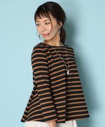 Le Minor(ルミノア)の【別注カラー】ルミノア Le Minor / ボーダープルオーバー EVASEE Stripe Pullover(Tシャツ/カットソー)