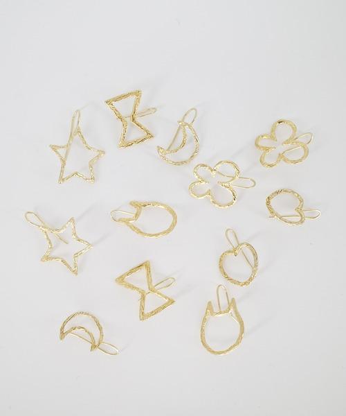POETIQUE les bijoux(ポエティーク?レ?ビジュー)の「リニアモチーフピアス(ピアス(両耳用))」 詳細画像