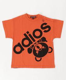 BIG ADIOS BEAR オーバーサイズTシャツ【XS/S/M】オレンジ
