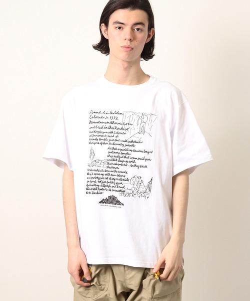 【 MOUNTAIN SMITH / マウンテンスミス 】GARDEN OF THE GODS メッセージグラフィックプリント半袖Tシャツ