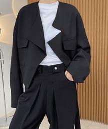 【chuclla】【2021/SS】Asymmetry collar blouson cb-3 chw1467ブラック