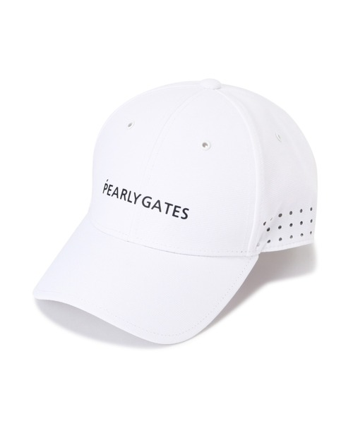 PEARLY GATES(パーリーゲイツ)の「【PEARLY GATES】ESSENTIAL CAP<ESSENTIAL >(キャップ)」|ホワイト