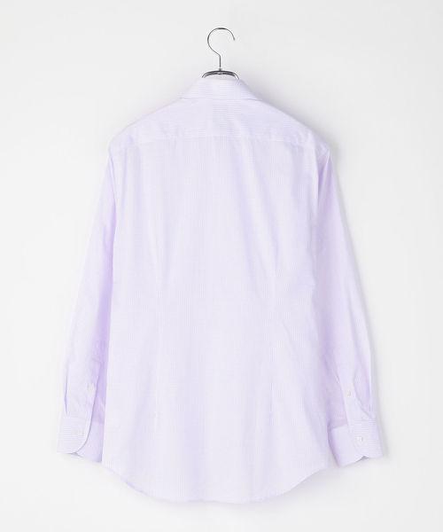 SD: ギンガムチェック イタリアンボタンダウンシャツ(ラベンダー)