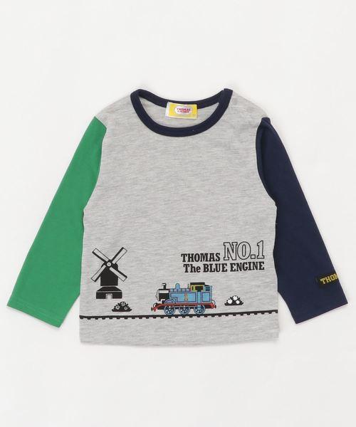 THOMAS トーマス 切替 長袖Tシャツ