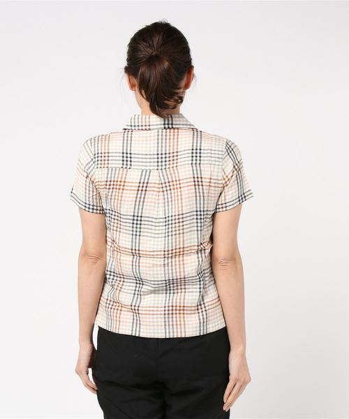 RVCA レディース  LONDON PLAID BUTTON-UP SHIRT ショートスリーブシャツ