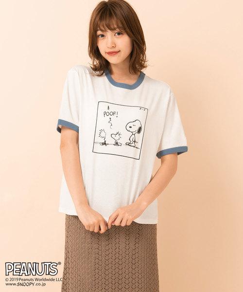 PEANUTSリンガーTシャツ